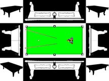 Billiards Snooker Table Base And Face Vector 01. Billiards Snooker Balls Table Base And Face Stock Image