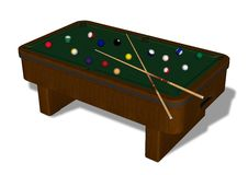 Billiards Table Stock Photo
