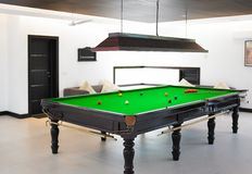 Billiards table Stock Photography
