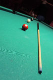 Billiards table and balls Stock Image