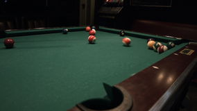 Billiards Table in Bar stock video footage