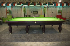 Billiards Table. In the Cafe Stock Photo