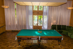 Billiards table in the former country of the Soviet leaders ( St Royalty Free Stock Image