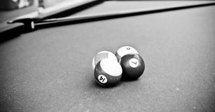 Billiards Trick Royalty Free Stock Photo