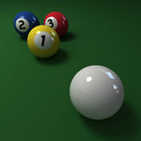 Billiards trio Stock Images
