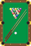 Billiards vector illustration. Isolated on white background Stock Images