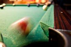 Billiardschuß Lizenzfreie Stockfotografie