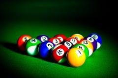billiardspheres Arkivfoto