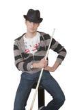 Billiardspieler Stockbild