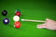 Billiardspielsituation Stockbild