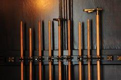 Billiardsteuerknüppel Stockbild