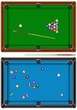 billiardtabell vektor illustrationer