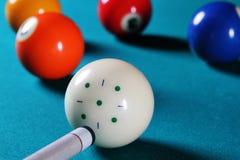 Billiardtabelle. lizenzfreies stockfoto