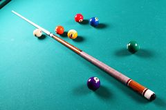 Billiardtabelle. Stockbild