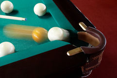 Billiardtasche Stockbild
