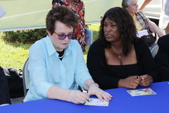 Billie Jean King Royaltyfri Foto