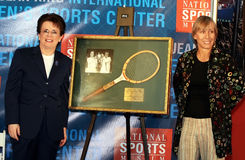 Billie Jean King and Martina Navratilova royalty free stock photography
