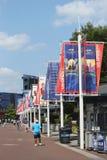 Billie Jean King National Tennis Center klaar voor US Open 2013 toernooien Stock Foto