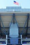 Billie Jean King National Tennis Center som är klar för US Openturnering 2013 Arkivfoton