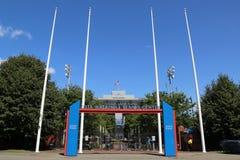 Billie Jean King National Tennis Center-Zuidenplein Stock Fotografie