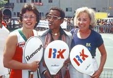 Billie Jean King, Sammy Davis, Jr., and Ethel Kennedy Stock Photos