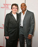 Billie Jean King and Tiki Barber Royalty Free Stock Photos