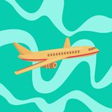 Billiga flyg Flygbegrepp Erbjudandeflyg royaltyfri fotografi