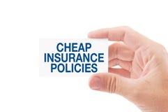 Billige Versicherungspolicen Stockfoto