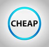 Billiger runder blauer Druckknopf lizenzfreie abbildung