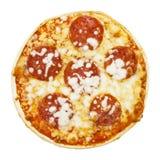 Billigt pris fryst pizza royaltyfria bilder