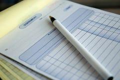 Billing. A bill statement Stock Image