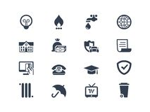 Billing icons Royalty Free Stock Image
