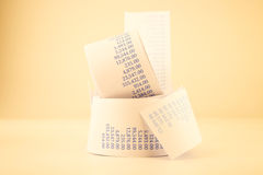 Billing paper rolls vintage style Royalty Free Stock Photography