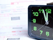 Billing time Royalty Free Stock Photography