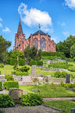 Billinge Church. An image of the red brick church in the swedish town of Billinge stock photography