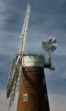 Billingford Windmill Diss Norfolk. A photograph of the top section of a now disused Windmill in Billingford near Diss Norfolk in the region of East Anglia stock photos