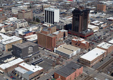 Billings Montana Aerial. Aerial of Downtown Billings Montana in the midwestern United States Royalty Free Stock Photo