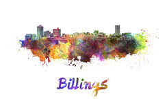 Billings skyline in watercolor Royalty Free Stock Photography