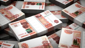 Billion Rubles Background stock video