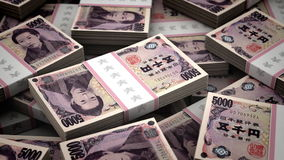 Billion Yen Background stock footage
