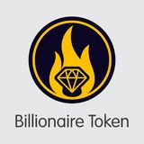 Billionaire Token - Virtual Currency Trading Sign. Billionaire Token Blockchain Sign Icon. Blockchain, Block, Distribution XBL Transaction Icon Royalty Free Stock Photography
