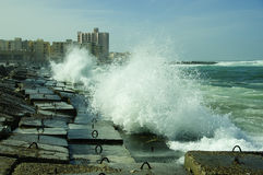Billow of Mediterranean Sea. Beside Alexandria stock photography