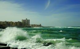 Billow of Mediterranean Sea Stock Photography