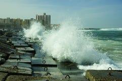 Billow van Middellandse Zee stock fotografie