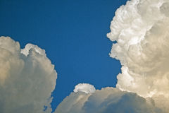 BILLOWING CUMULUS CLOUDS stock image