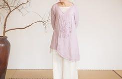 Billowing skirts-China tea clothing Stock Photo