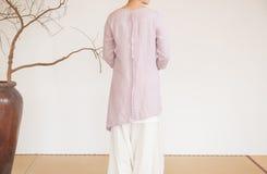 Billowing skirts-China tea clothing Stock Image