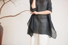Billowing skirts-China tea clothing Royalty Free Stock Photo