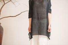 Billowing skirts-China tea clothing Royalty Free Stock Photography