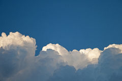 BILLOWING WHITE CLOUD LAYERS stock photos